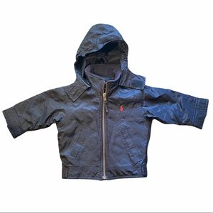 Polo by Ralph Lauren Jacket Hooded Navy Blue 12 mo